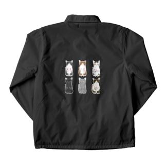 6匹の猫ちゃん Coach Jacket