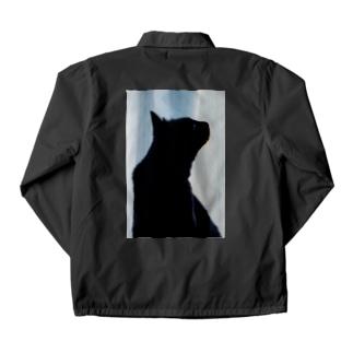 横顔美人な黒猫 Coach Jacket