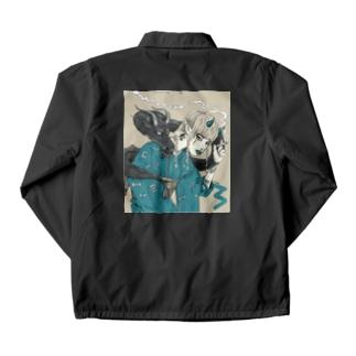 龍と着物 バックプリントver. Coach Jacket