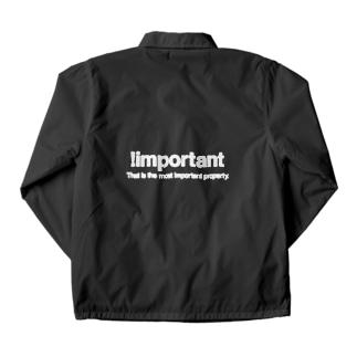 もりてつの!important(白文字) Coach Jacket