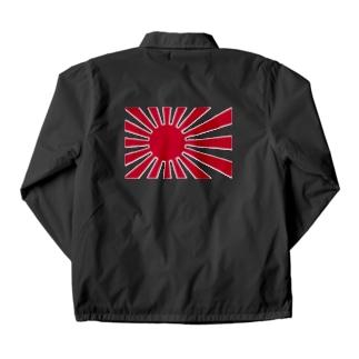日本国旗 旭日旗 日章旗 旗 赤  Coach Jacket