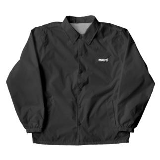 merci standard white logo coach jacket Coach Jacket