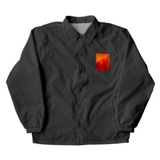 赤い Coach Jacket