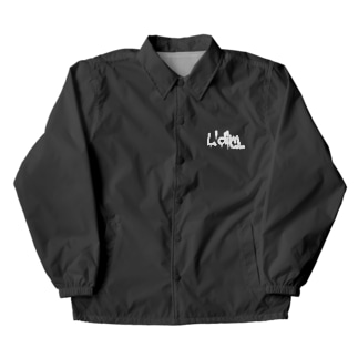 L'dim fashion 白ロゴ Coach Jacket