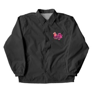 ロゴ(ピンク) Coach Jacket