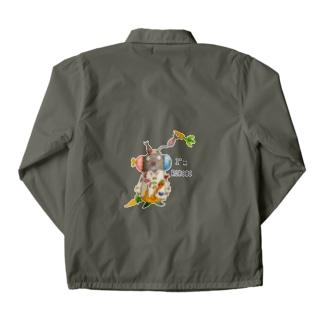 ROBOBO 「まーぶるロボ」ウサギ スチームパンク Coach Jacket