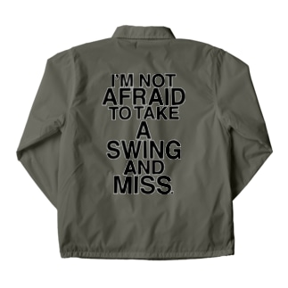 NOT AFRAID SWING AND MISS Coach Jacket