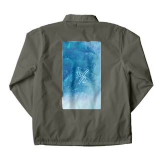 blue of calm down Coach Jacket