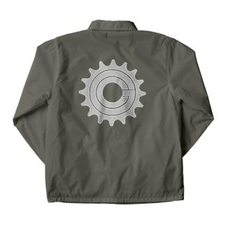 Green Cog Cog Logo MONO Coach Jacket