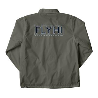〔Back Print〕 FLY HI BOX Coach Jacket