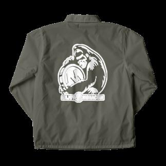 GemBox SUZURI店のモナゴリラ モナコイン 単色両面 WH (SZ) GemBox Coach Jacketの裏面