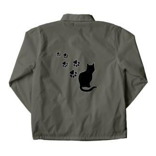 XennyStoreの猫の足跡 Coach Jacket