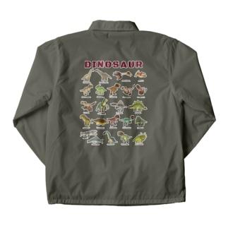 バックプリント ちょっとゆるい恐竜図鑑 Coach Jacket