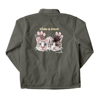 なにぬ猫-YAのうちの子にくきゅうポートレート★カーオ&ダーオ Coach Jacket