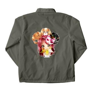 ハッピーアニマル(初期限定デザイン キャバリア・インコ・犬・鳥) Coach Jacket