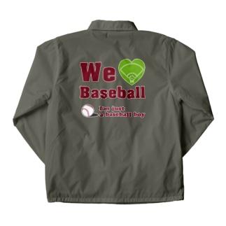 We love Baseball(レッド) Coach Jacket
