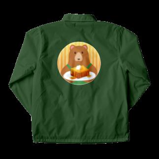 雑貨屋きゅう@suzuri支店のクマ店長のハニートースト Coach Jacket