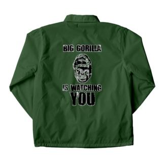 BIG GORILLA IS WATCHING YOU(黒字) Coach Jacket