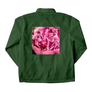 情熱のピンクシャクヤク Coach Jacket