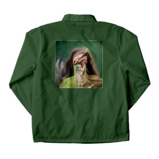 Green man  Coach Jacket