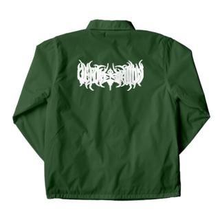 森林伐採 バンド風ロゴ Coach Jacket