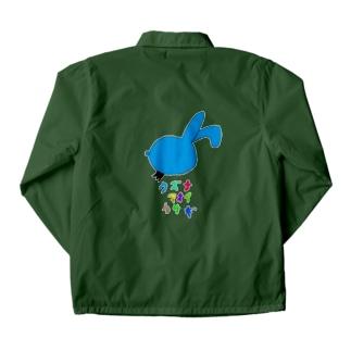 クズな青いウサギ Coach Jacket