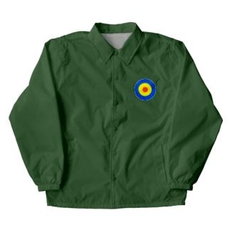サークルa・青・黄・オレンジ Coach Jacket