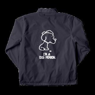 egu shopのi'm a  dog person. (white) Coach Jacket