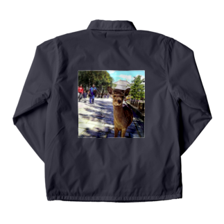 ならばー地亜貴(c_c)bのカメラ目線の奈良の鹿 Coach Jacket