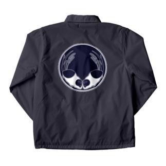 向かい天竺鼠と大粟還の家紋 Coach Jacket