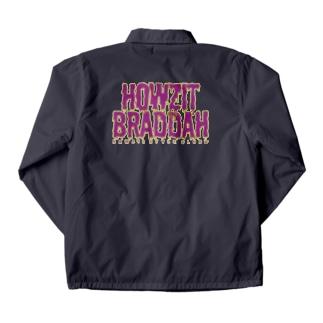 〔Back Print〕 HOWZIT BRADDAH Coach Jacket