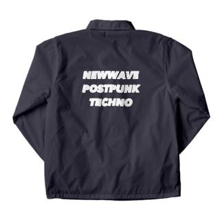 NEWWAVE POSTPUNK TECHNO white Coach Jacket