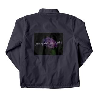 purple カットソー Coach Jacket