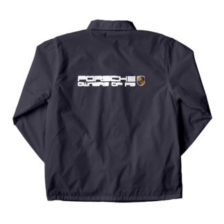 【ロゴ:ダークブルーxレッド】白文字(含チャリティー代 1000円) Coach Jacket