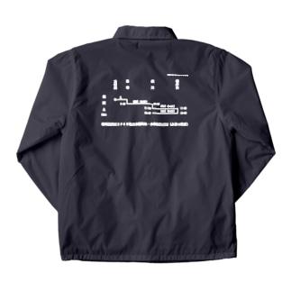 新商品PTオリジナルショップの横川機関区箱ダイヤ(臨時短期列車)(白) Coach Jacketの裏面