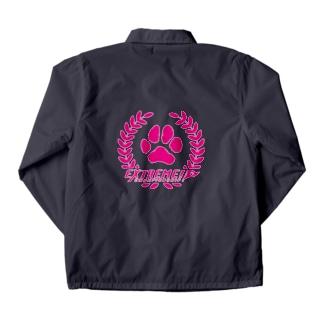 ドッグライフプランはしもとのドッグスポーツ・エクストリーム ロゴ(丸形) Coach Jacket