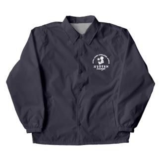 氷点ラウンジ-ロゴ-白 Coach Jacket
