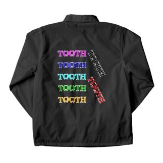 Tooth logoカラフル コーチジャケット