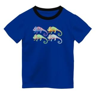 4ひきのエボシカメレオン Dry T-Shirt