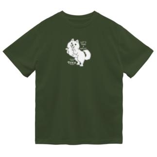 ポメラニアンお散歩WOW_B*M Dry T-Shirt