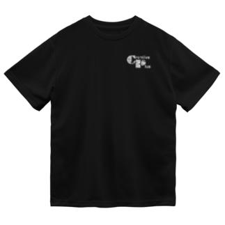 カモフラージュCP-Logo(白黒) Dry T-Shirt