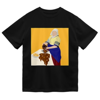 カレーを注ぐ女 Dry T-shirts