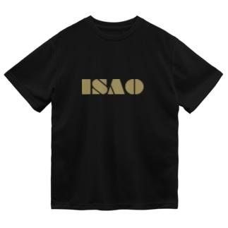 ISAOロゴ ドライTシャツ (ゴールドロゴ) Dry T-Shirt