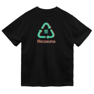またまたのRe:sauna 黒 Dry T-Shirt