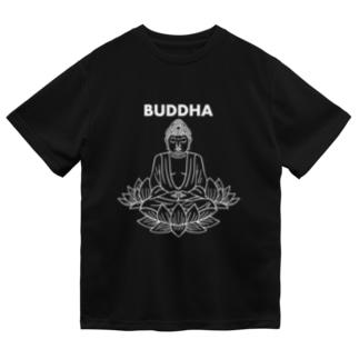 BUDDHA-仏像- 白ロゴ Dry T-Shirt