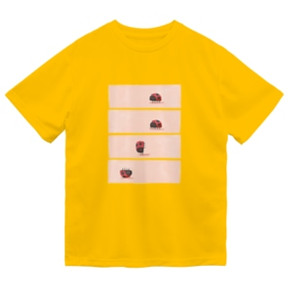 でんぐり返し虫 Dry T-Shirt