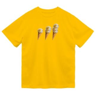 栗ご飯(アイスクリーム) ドライTシャツ