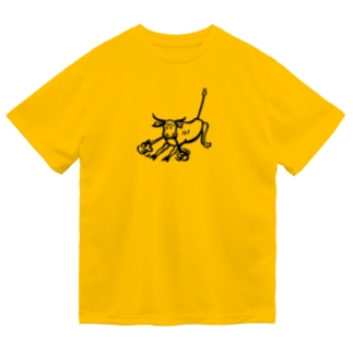荒ぶる雄牛(Snorting Bull) Dry T-shirts