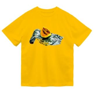 かぼちゃとアルミホイル(枠なしver) Dry T-Shirt