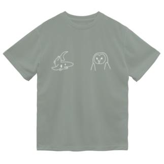 サメとメンフクロウ白 Dry T-shirts